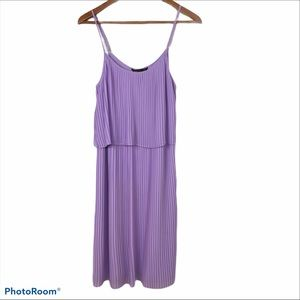 FELICITY &COCO LAVENDER PLEATED DRESS